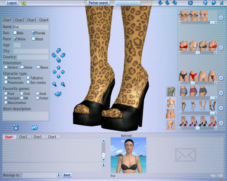 Love Games Multiplayer 3d Software 3 32 3D technology is now being used in erotic videochats